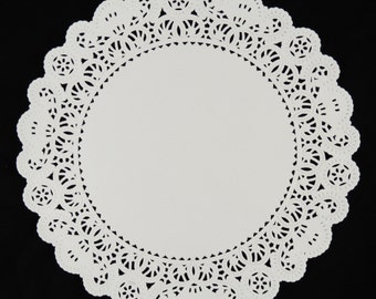 "50 - 12"" WHITE Normandy PAPER Lace DOILIES 