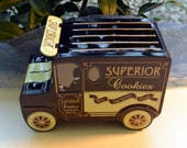 Reserved for S - Vintage Cookie Tin - Delivery Truck, Superior Cookies Collection, Movable Awning - Fabulous!
