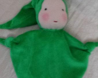 Waldorf blanket doll, soft doll, fluffy doll