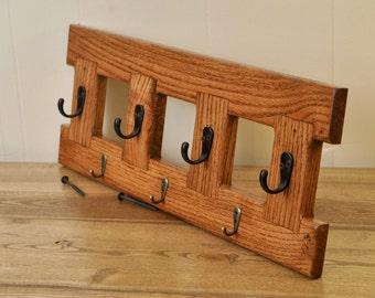 Oak Wall-mount coat hanger