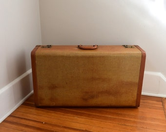 Shabby Chic Luggage, Suitcase, Brown, Case, tweed, Large Case