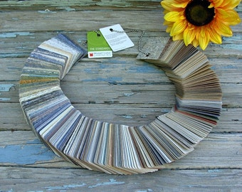 286 Pieces Mixed Lot Laminate Wilsonart Salesman Samples Arts & Crafts Supplies On Chain Indicates Promotion Years 2006 and 2009