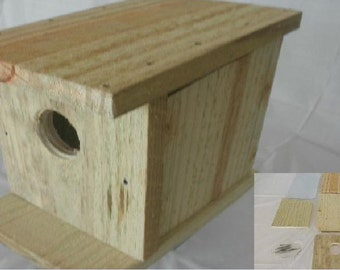 Window Birdhouse and Feeder Kit/My Spy Birdhouse and Feeder/Easy to Assemble/Pre  Drilled Holes/4 Page instructions and tips/ Bird House Kit