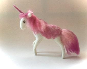 Wet Felted  Unicorn.Handmade .Waldorf. Felted Animal