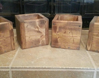 Wooden Boxes for Centerpieces or Flowers