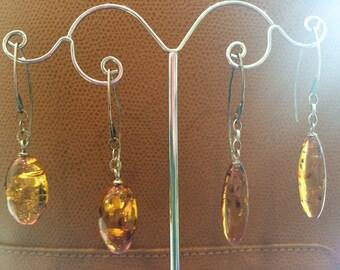 Sale Amber drop earrings