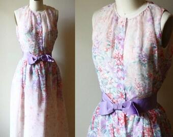 1960s garden party dress // 1960s floral dress // vintage dress