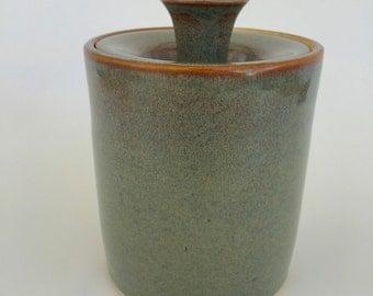 Antique Green Lidded Jar