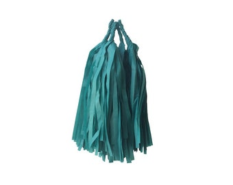 Teal Tissue Tassels - Pack of 4 - DIY Kit Assembly Required - Paper Party Decor Decoration Supplies