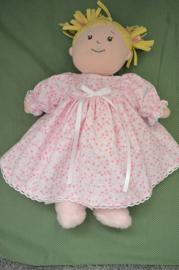Doll Clothes for Baby Stella flannel nightgown & fur