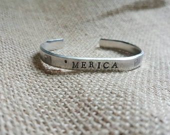 Merica Stackable Thin Cuff