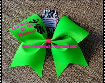 Cheer Bow-Go Big Or Go Home Bow