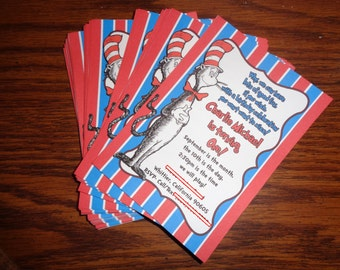 Dr Seuss Birthday Invites, Invitations