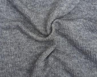 "Wool Sweater Knit Fabric by Yard - Gray #2 50""W 7/15"