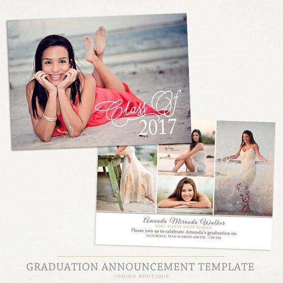 Senior Graduation Announcement Template for Photographers 022