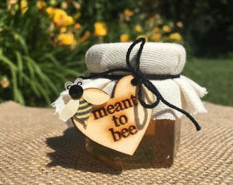 Meant To Bee Mini Honey Jars - Wedding Favors - Customized