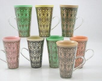 Mid Century Tall Insulated Mugs