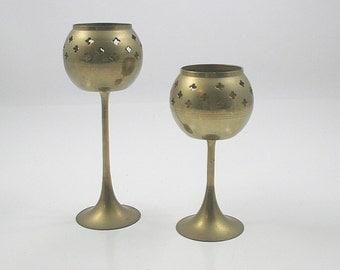 Brass Tea Light Candle Holders