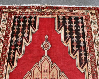 Spring Moving SALE! -- Mazlaghan Geometric Village Rug -- 6 ft. 8 in. by 4 ft. 3 in.