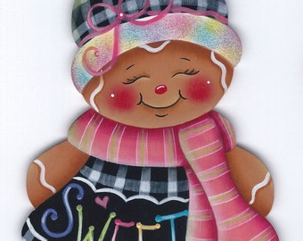 Ginger Sweet Gingerbread  Painting E-Pattern