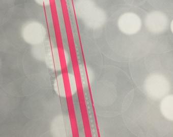 EC snap in bookmark - PINK STRIPE