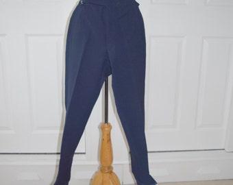 Navy Blue REI Stretch Ski/Snow/Snowboarding Stirrup Pants - Women's Small