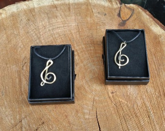 Hand Forged Bronze Treble Clef