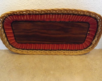 Wicker Basket Tray From Sweden