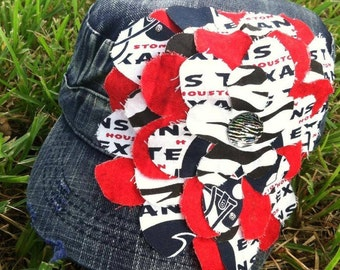 Houston Texans Frayed Flower Cadet Baseball Hat