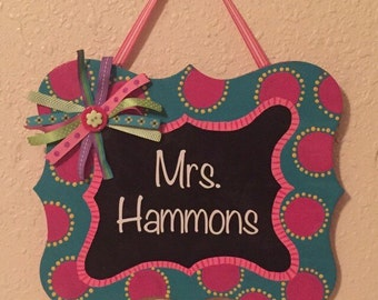 Custom Teacher Name Sign