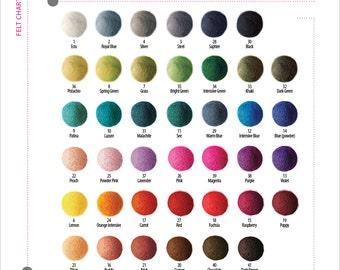 25 pieces x 2cm FELT BALLS Beads  2cm 20mm (7/8 inch)