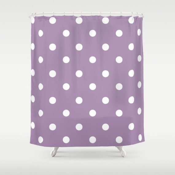 Polka Dot Shower Curtain Purple And White Shower Curtain