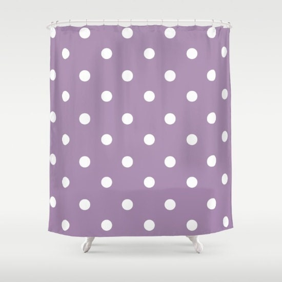 Polka Dot Shower Curtain Purple And White Shower Curtain Bathroom Decor Made To Order