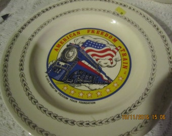 American Freedom Train Plate 1975 Collector