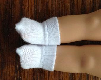 """Teeny Tiny White Socks for 8"""" Vogue Ginny Doll"""