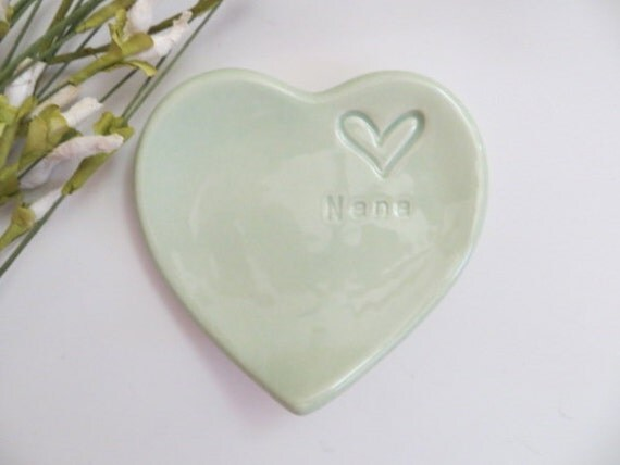 Nana Gift, ring dish, wedding ring holder, Mint Green, Gift from ...