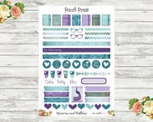 Peacock Parade - Accessories Planner Stickers - Matte, Repositionable, Vinyl or Glossy