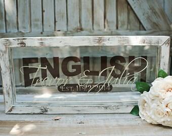 Personalized Vintage Wedding Name Frame