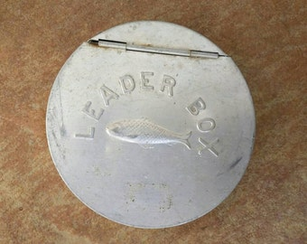 Vintage Fly Fishing Leader Aluminum Box