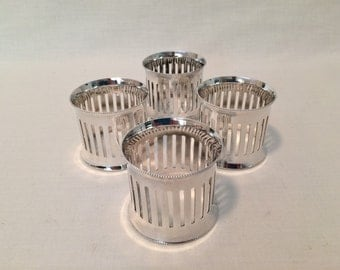 4 - ARGENTE SILVERPLATE NAPKIN Rings - Made in Italy