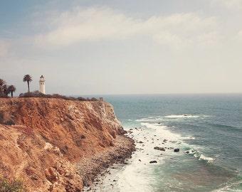 Lighthouse Photography, Palos Verdes, Point Vicente, California Pacific Coast, ocean, Los Angeles, Beach, Boho, nature, Coastal Wall Decor,