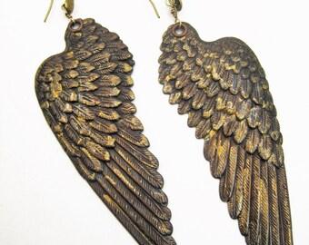 Large Bold Wing earrings
