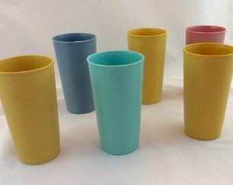 Tupperware Tumblers x 6 Pastel Colors