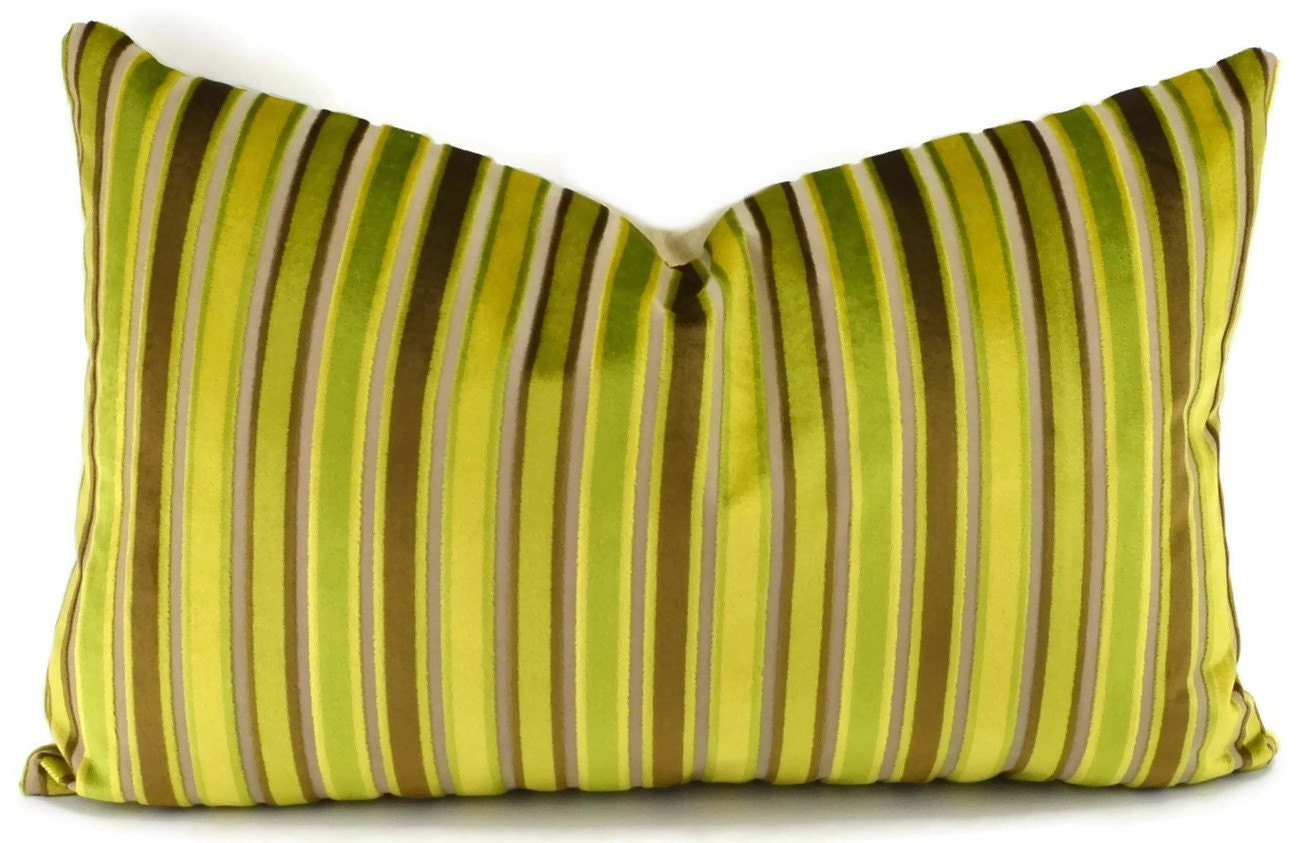 Modern Green Pillow Cover : SALE Throw Pillow Cover Mid-Century Modern Green Gold
