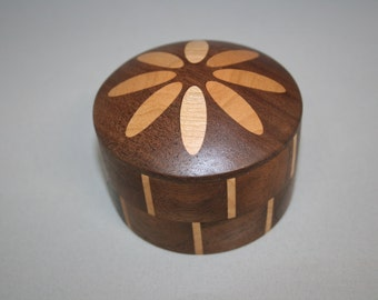 Abstract Flower #5 Handcrafted Wooden Box
