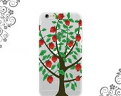 iPhone and Galaxy Soft TPU Phone Case Back Cover Fruit bearing tree - UV0322