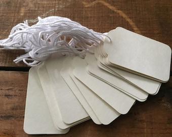 """Paper craft Tags 1.6"""" x 2.75"""" 20 pcs"""