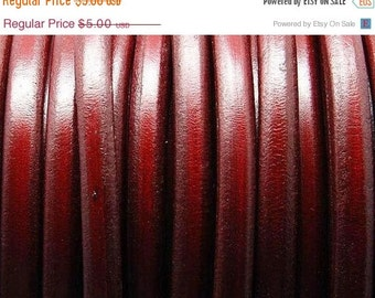 55% OFF Bordeaux Licorice Leather Cord - 10mm x 6mm - 8 inch/20cm piece (JG-B10)