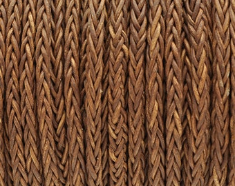4MM 8-Ply Braided Bolo Leather Vintage Whiskey - Qty. - 5M/5.46YD