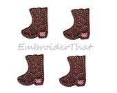 UNCUT Cowgirl Boot felt applique embellishment patch (4)